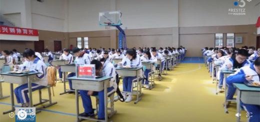 """capture d'écran du reportage """"Coronavirus : en Chine, la réouverture des écoles se fait sous haute surveillance"""" . © France Télévisions / France 3"""