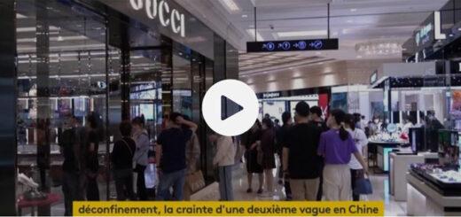 """Capture d'écran du reportage """"Coronavirus : une seconde vague crainte en Chine"""". © France Info."""