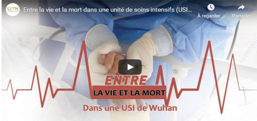 """Capture d'écran du reportage """"Entre la vie et la mort dans une unité de soins intensifs (USI) à Wuhan"""". © CGTN"""
