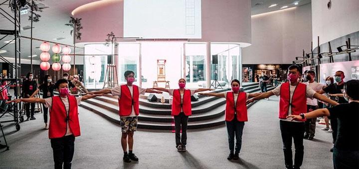 Comme ici à Kaohsiung, les acteurs culturels taiwanais rivalisent d'imagination pour poursuivre pendant l'épidémie de Covid-19 la création artistique sous de nouvelles formes. © Aimable crédit du Centre national pour les arts de Kaohsiung.