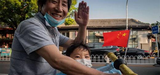 Une rue de Pékin, le 19 mai. © NICOLAS ASFOURI/AFP