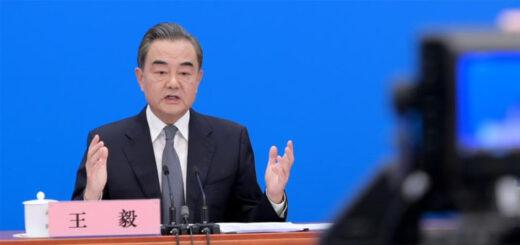 Le ministre chinois des Affaires étangères, Wang Yi, dimanche 24 mai 2020 à Pékin. © LI HE / XINHUA / AFP.