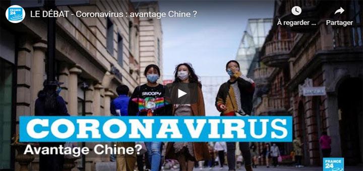"""capture d'écran de l'émission """"Coronavirus : avantage Chine ? """". © France 24."""