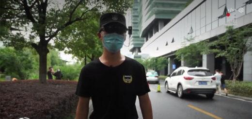 capture d'écran du reportage « Chine : des lunettes thermiques pour traquer le coronavirus ». © France Télévisions / France 2