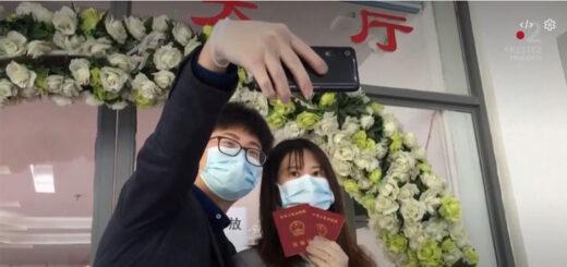 capture d'écran du reportage « Chine : l'amour et le mariage à l'épreuve du coronavirus ». © France Télévisions / France 2