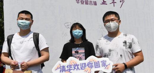 Retour sur les campus des étudiants universitaires en dernière année à Beijing. © Xinhua/Ju Huanzong