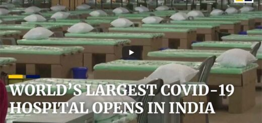 World's largest temporary Covid-19 hospital opens in India. © South China Morning Post