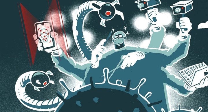 China turned to technology to help win the virus fight. © SCMP
