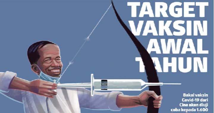 """La une de Koran Tempo du 22 juillet 2020. """"Un vaccin pour le début de l'année prochaine"""" © Koran Tempo"""