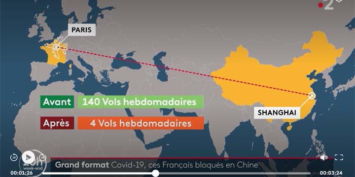capture d'écran du reportage « Coronavirus : des Français bloqués en Chine ». © France Télévisions / France 2