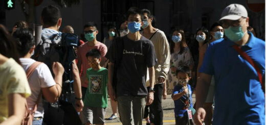The daily coronavirus count amid the third wave in Hong Kong is still 'significantly high'. © May Tse