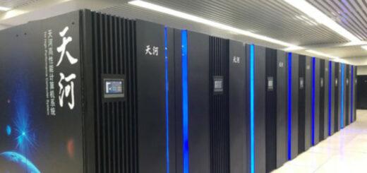 La salle informatique de Tianhe-1,vue au Centre national des supercalculateurs de Tianjin (nord de la Chine), le 17 août 2020. © Jiang Lu / chinadaily.com.cn