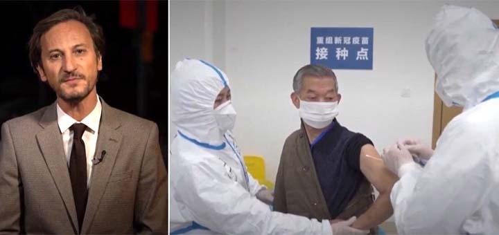 """Capture d'écran du reportage """"Coronavirus : pas de deuxième vague en Chine, mais 500 000 vaccinés"""". © France Info"""