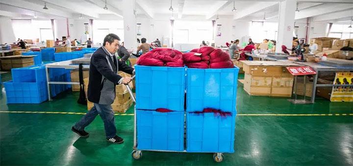 Une usine en Chine dans la province de Guizhou, le 16 octobre 2020. © Luo Dafu / Costfoto/Sipa USA/SIP