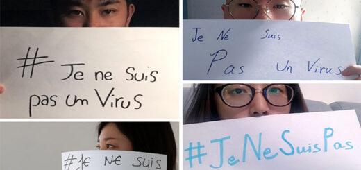 """Autoportraits de jeunes Asiatiques lors de la mobilisation sur les réseaux sociaux avec le hashtag """"JeNeSuisPasUnVirus"""" © DR"""