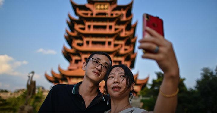 Coronavirus en Chine : la renaissance de Wuhan, l'ex-épicentre de la pandémie. © Hector RETAMAL / AFP