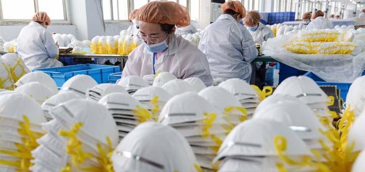 La Chine a vendu pas moins de 40 milliards de dollars de masques. © AFP