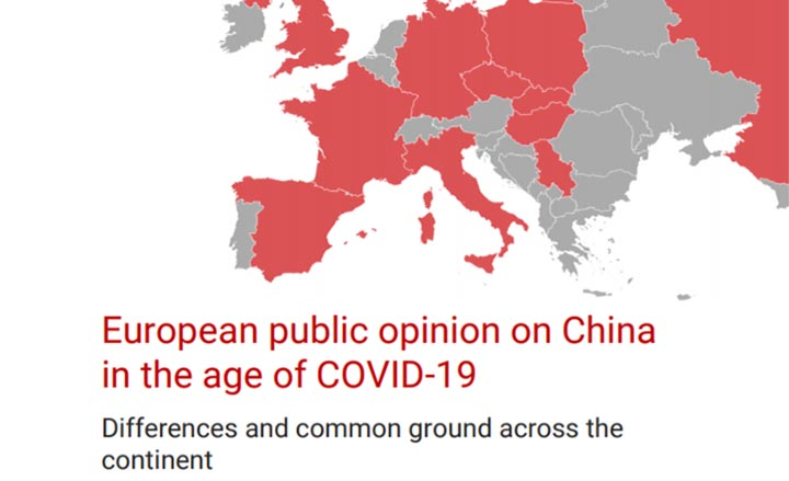 Couverture du rapport European public opinion on China in the age of COVID-19: Differences and common ground across the continent
