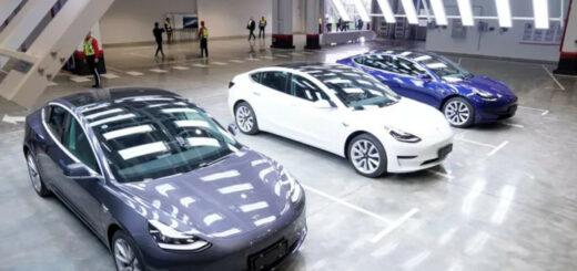 Pékin a livré fin novembre ses premières automobiles Tesla Model 3, fabriquées dans l'usine chinoise, à Shanghaï. © ALY SONG/REUTERS