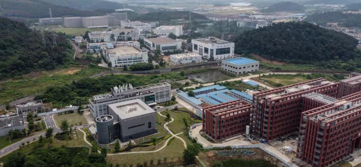 Le campus de l'Institut de virologie de Wuhan, en Chine, le 27 mai 2020. © HECTOR RETAMAL / AFP