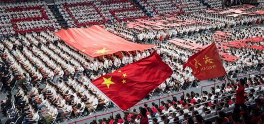 Une cérémonie à l'Université de Wuhan en septembre 2020. © STR - AFP