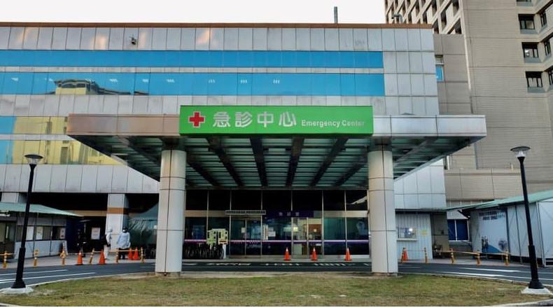 L'hôpital de Taoyuan à Taïwan où un cluster du coronavirus a été détecté à la mi-janvier, l'île d'Asie compte un nombre infime de cas depuis le début de la crise en raisons de l'instauration de mesures sanitaires drastiques. © Sam Yeh