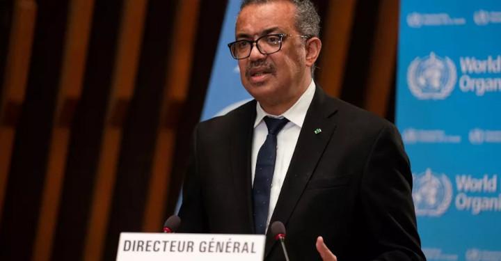 Le directeur général de l'OMS, Tedros Adhanom Ghebreyesus, lors de l'ouverture de la 148e session du Conseil exécutif de l'OMS à Genève (Suisse), le 18 janvier 2021. © CHRISTOPHER BLACK / WORLD HEALTH ORGANIZATION / AFP