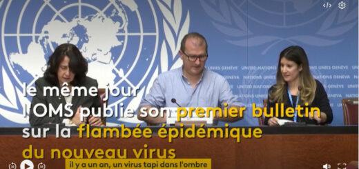 """capture d'écran du reportage """"Coronavirus : la chronologie de l'épidémie en Chine"""". © France Info"""