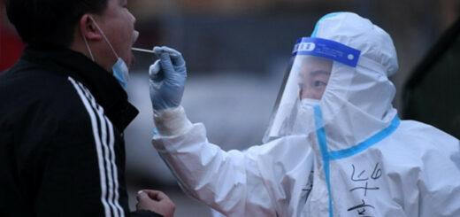 1月12日,石家庄进行全市全员第二轮核酸检测 © Xinhua News DR