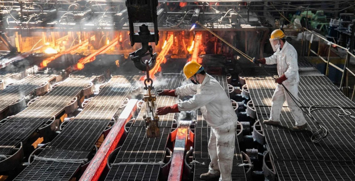 China's metal producers are among those likely to see their profits slide in 2021, according to a new study. © AFP