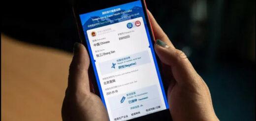 La Chine a lancé pour ses citoyens un passeport numérique qui leur permettra de prouver leur statut sanitaire lors d'un voyage vers ou depuis l'étranger. © NICOLAS ASFOURI / AFP