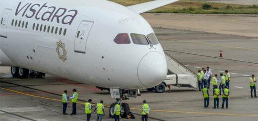 Un Boeing de la compagnie Vistara. © NOAH SEELAM / AFP