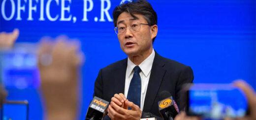 Gao Fu, le directeur du Centre de contrôle et de prévention des maladies en Chine, le 26 janvier 2020 à Pékin. © AP - Mark Schiefelbein