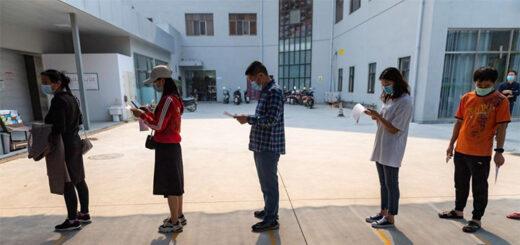 La ville de Ruili dans la province chinoise du Yunnan (sud-ouest) a lancé mercredi des tests d'acide nucléique à l'échelle de la ville après la découverte de nouveaux cas de COVID-19. © Xinhua/Chen Xinbo