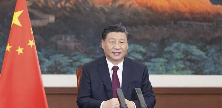 Le président chinois Xi Jinping, le 17 mars 2021. © LI XUEREN / XINHUA / AFP