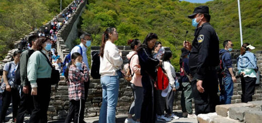 Visitors at the Mutianyu section of the Great Wall. © Reuters