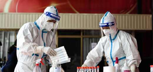 Medical workers sort out swab samples for nucleic acid test in Ruili City of southwest China's Yunnan Province, on July 5, 2021. Ruili City on Monday imposed entry and exit restrictions after the emergence of new COVID-19 cases. The city reported three new locally transmitted confirmed COVID-19 cases on Sunday. Authorities have asked people to refrain from entering or leaving the city unless necessary. @ Xinhua/Wang Guansen
