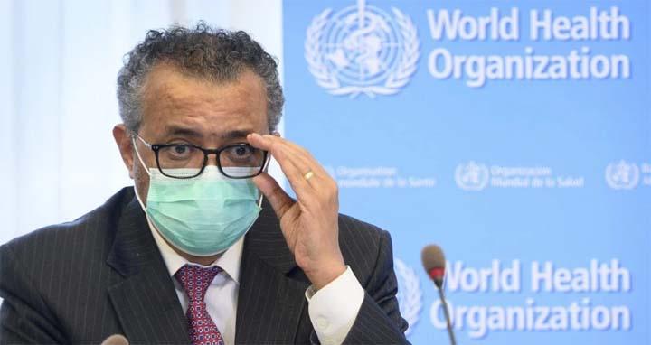 WHO Director General Tedros Adhanom Ghebreyesus. @ AP