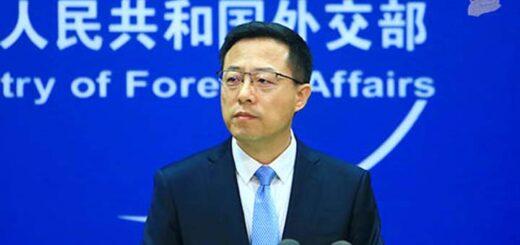 Le porte-parole du ministère des Affaires étrangères, Zhao Lijian @ Xinhua