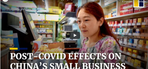 """capture d'écran du reportage """"mall businesses in China's Xian still struggling a year after controlling Covid-19 pandemic"""". @ SCMP"""