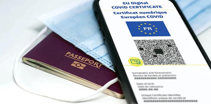 Passeport, masque et passe sanitaire sont les indispensables cet été pour voyager. © Rarrarorro / Shutterstock