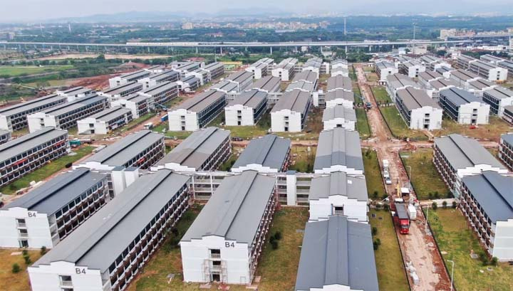 The first of China's large-scale quarantine facilities for overseas arrivals – in the southern city of Guangzhou – has more than 5,000 rooms. © Xinhua